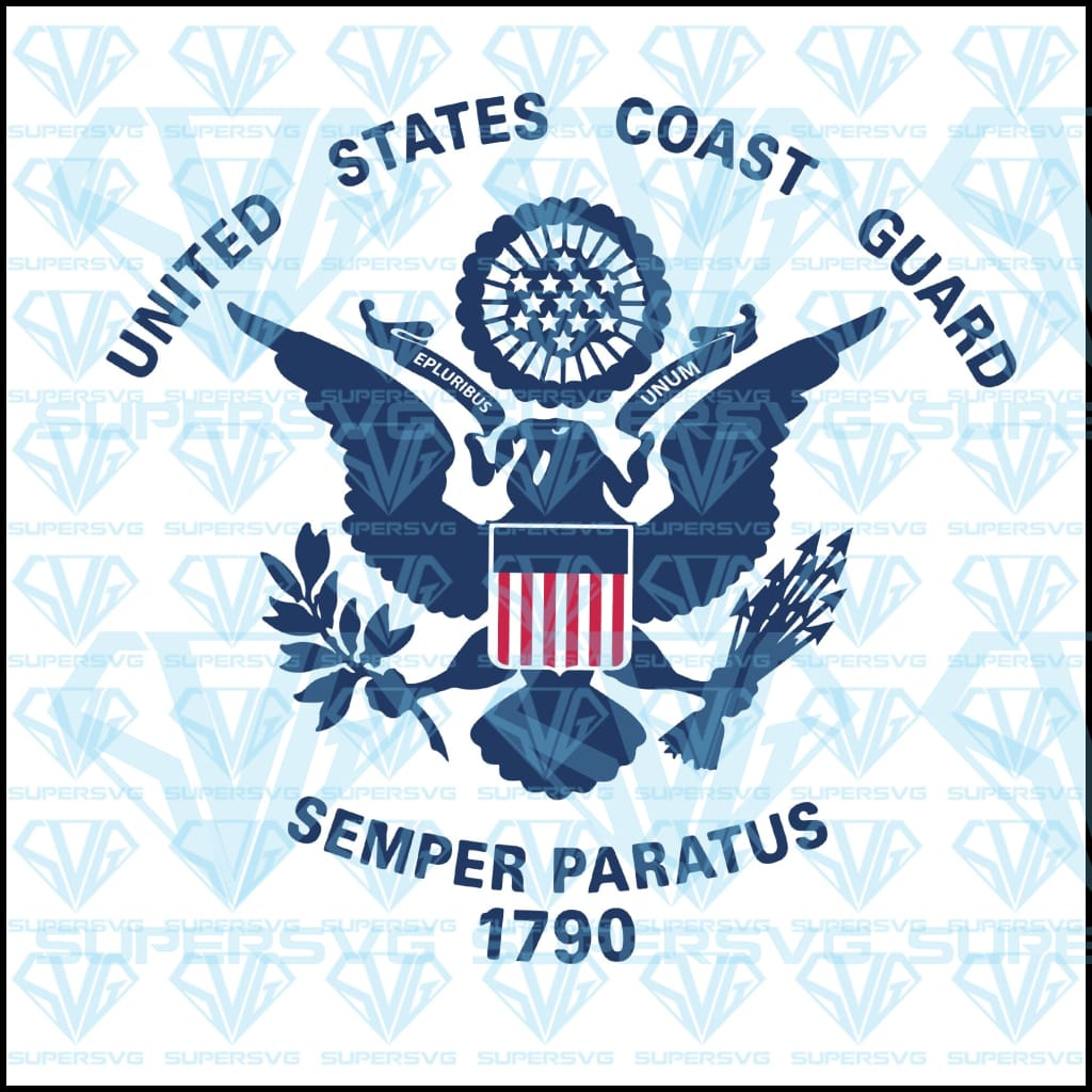 United States Coast Guard Semper Paratus 1790, svg, png, dxf, eps file