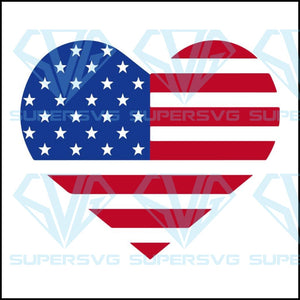 USA Heart Flag, usa heart svg, usa heart png, usa heart vector, flag heart clipart, usa heart clipart