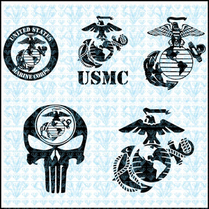 Usmc United States Marine Corps Emblem Logo Svg Files For Silhouette Cricut Dxf Eps Png Instant