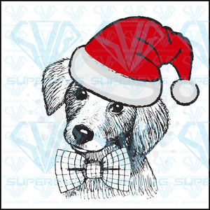 Vector Dog Dog Santa Red Hat png