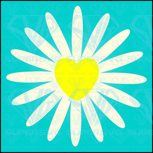 White Daisy Chamomile Icon Cute Flower, svg, png, dxf, eps file