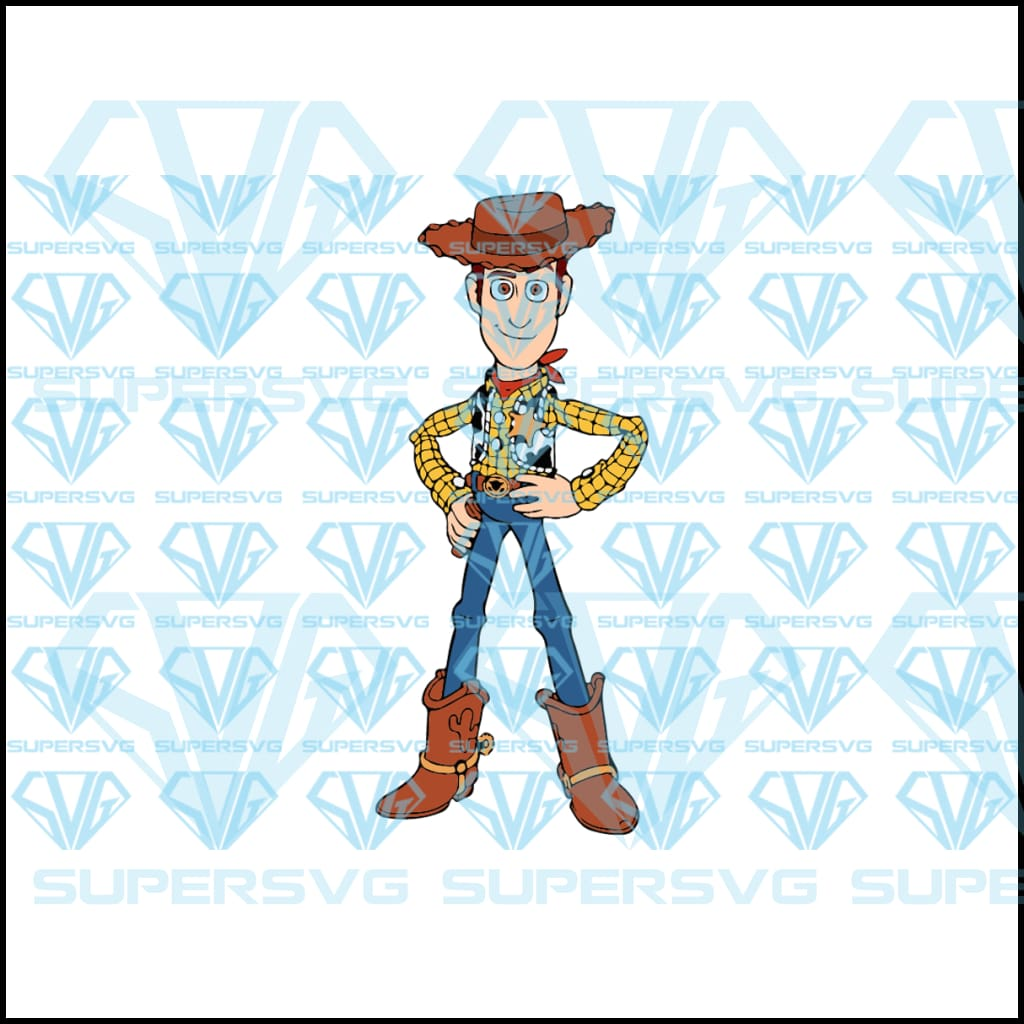 woody, toy story, svg, png, dxf, eps file