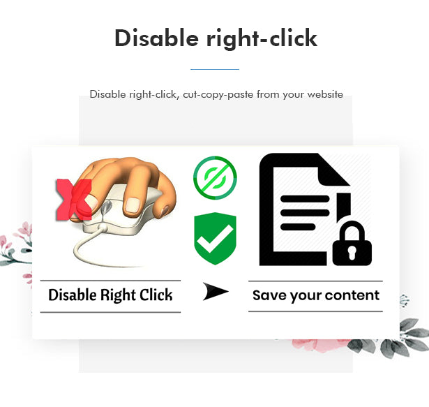 Disable right click and copy/paste