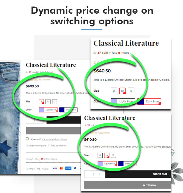 Dynamic product price change