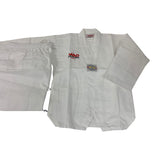 TKD WHITE STUDENT V-NECK UNIFORM