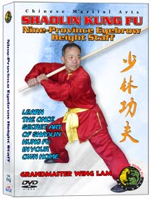 (SHAOLIN DVD #04) SHAOLIN NINE PROVINCE EYEBROW HEIGHT STAFF TRADITIONAL SHAOLING KUNG FU