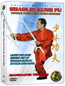 (SHAOLIN DVD #26) DOUBLE TIGER-HEAD HOOK SWORDS CHINESE TRADITIONAL SHAOLIN KUNG FU