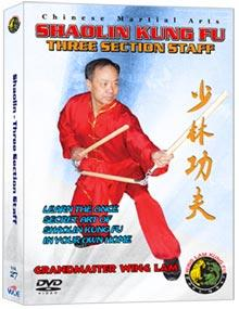 (SHAOLIN DVD #27) THREE-SECTION STAFF CHINESE TRADITIONAL SHAOLIN KUNG FU