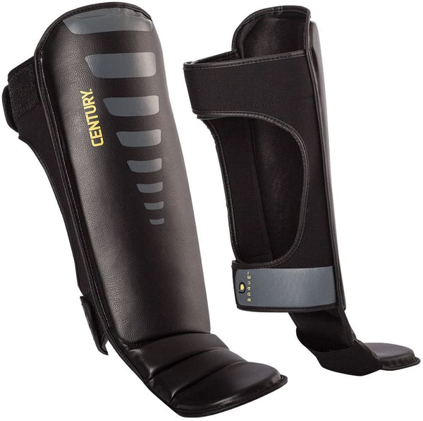 BRAVE SHIN INSTEP GUARDS BLACK/GREY