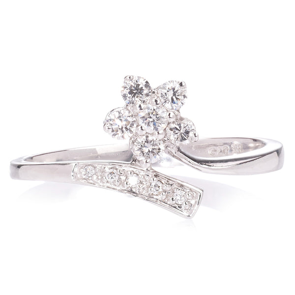 9ct Diamond Flower Ring