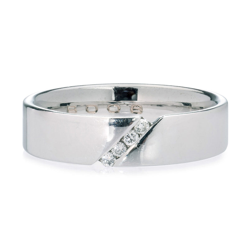 18ct White Gold Diamond Band