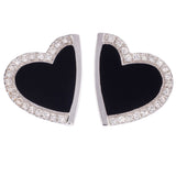 Roberto Coin Black Onyx and Diamond Hearts