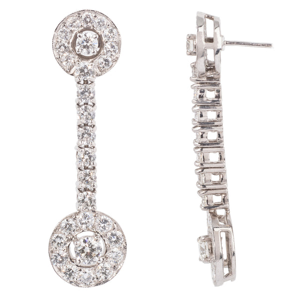 Diamond 18ct White Gold Drop Earrings