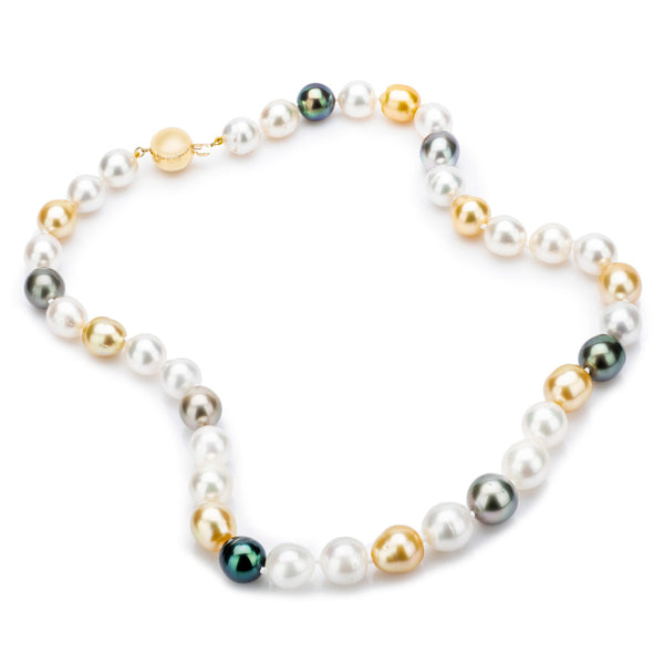 Multi Colour South Sea Pearls 10-12mm