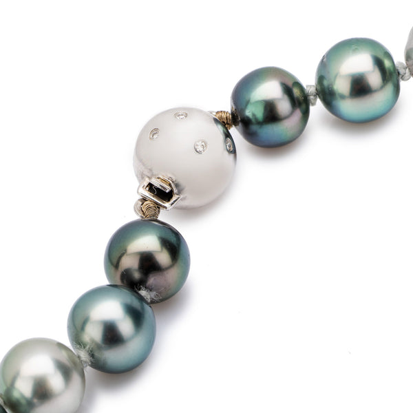 South Sea Graduated Pearls with an 18ct White Gold Diamond Clasp