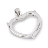 Theo Fennell 18ct White Gold Ruby and Diamond Horn Heart