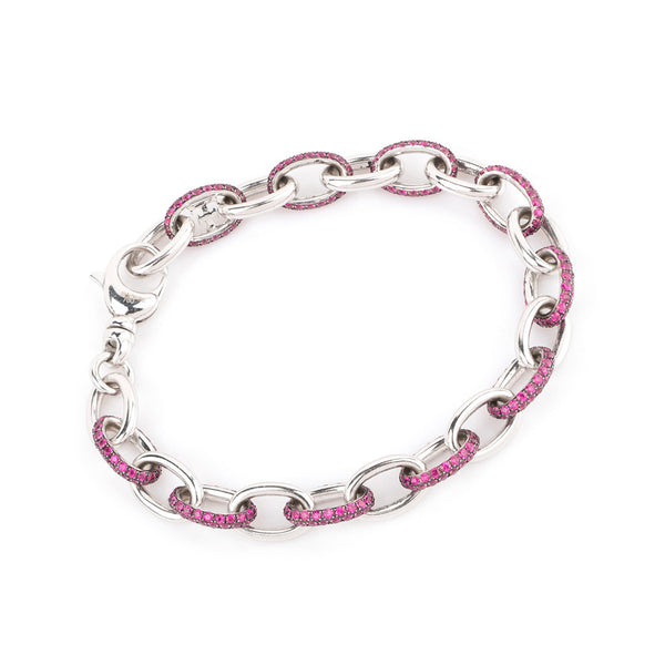 Theo Fennell 18ct White Gold Ruby Bracelet
