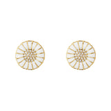 Georg Jensen Gold Diamond Daisy Earrings