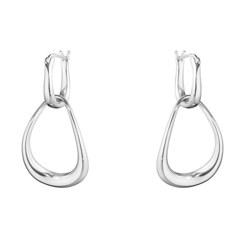 Georg Jensen Silver Offspring Hoop Earrings