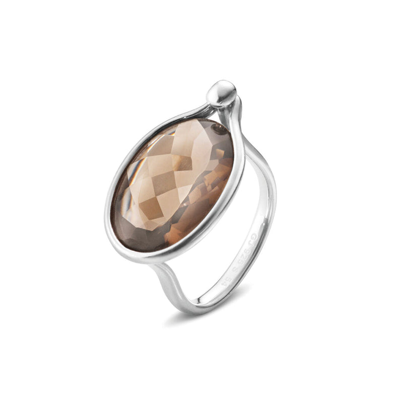 Georg Jensen Savannah Smokey Quartz Silver Ring