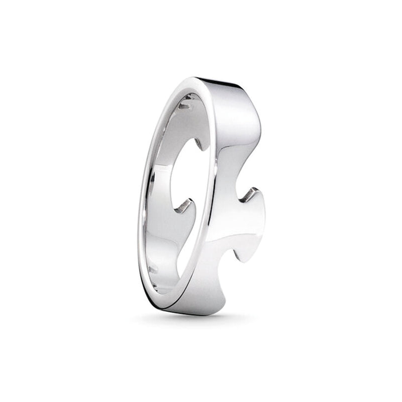Georg Jensen 18ct. White Gold Fusion End Ring