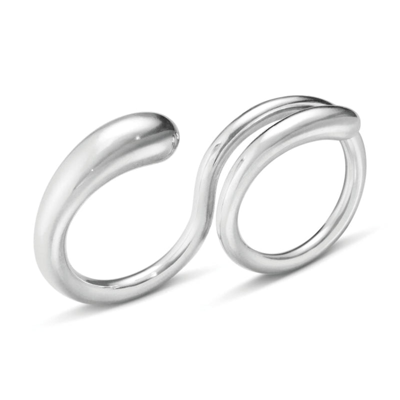 Georg Jensen Double Mercy Silver Ring