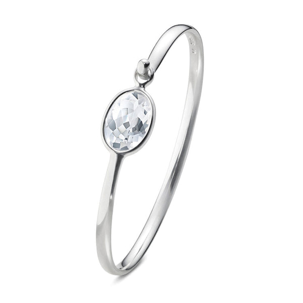 Georg Jensen Savannah  Rock Crystal Silver Bangle