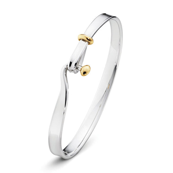 Georg Jensen Torun 18ct. Yellow Gold and Silver Bangle
