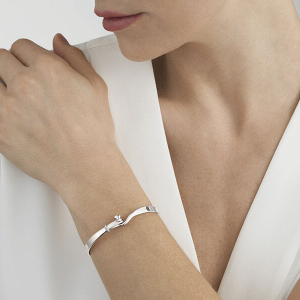 Georg Jensen Torun  Silver and Diamond  Bangle