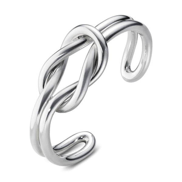 Georg Jensen Love Knot Silver Bangle