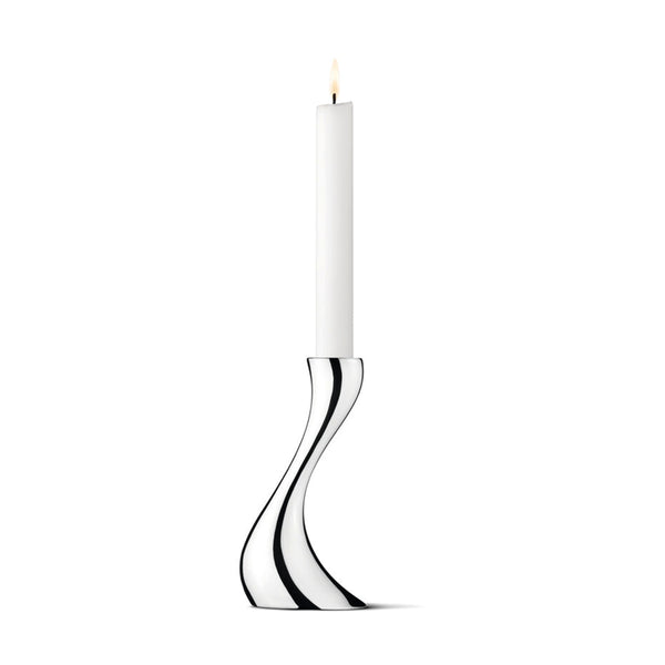 Georg Jensen Stainless Steel Cobra Small Candle Holder