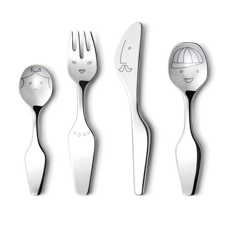 Georg Jensen Stainless Steel Alfredo 4Pcs. Cutelry Set