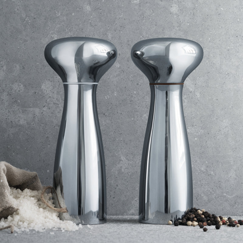 Georg Jensen Stainless Steel Alfredo Salt and Pepper Grinder