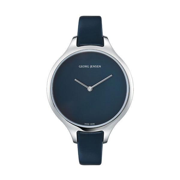 Georg Jensen Koppel Silver Concave Mens Watch