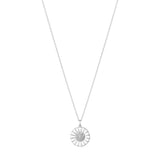 Georg Jensen Silver Diamond Daisy Necklace