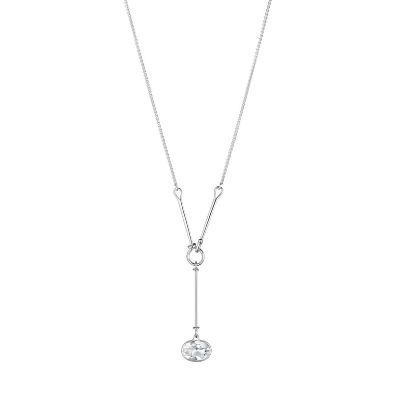 Georg Jensen Silver Savannah Rock Crystal Necklace