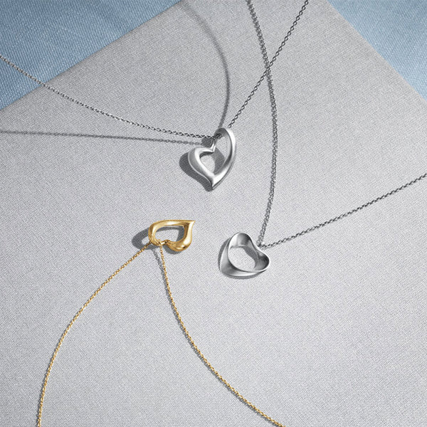 Georg Jensen Gold Hearts of Georg Necklace