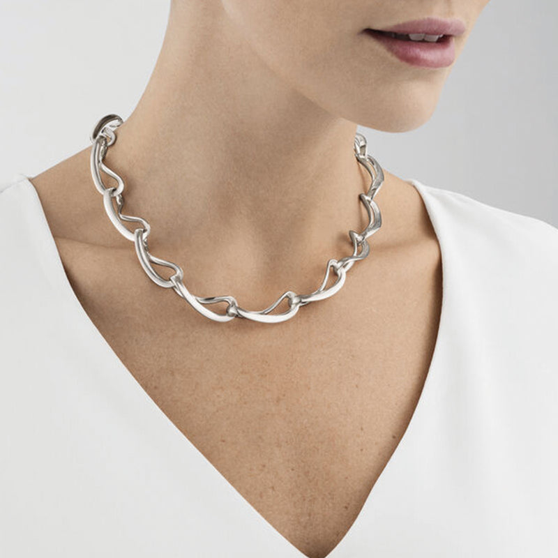 Georg Jensen Silver Infinity Necklace