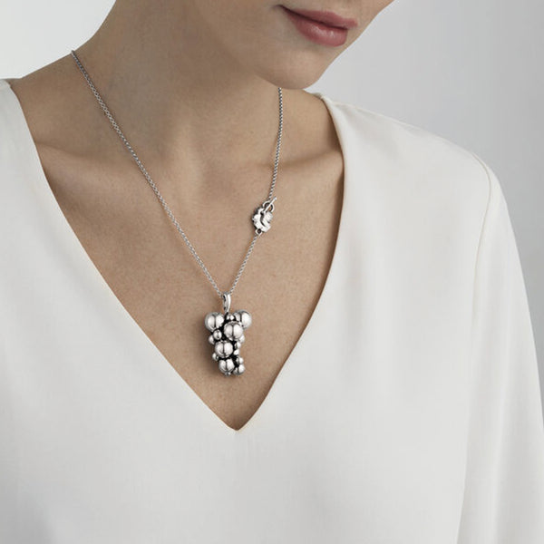 Georg Jensen Silver Moonlight Grapes Necklace
