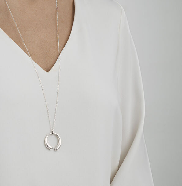 Georg Jensen Silver Mercy Large Necklace