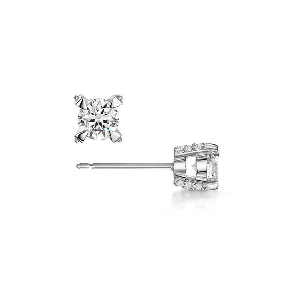Three Little Words Diamond Earrings