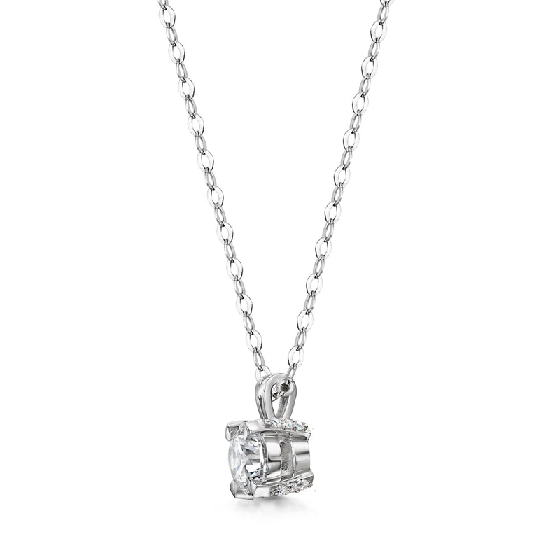 Three Little Words Diamond Necklace
