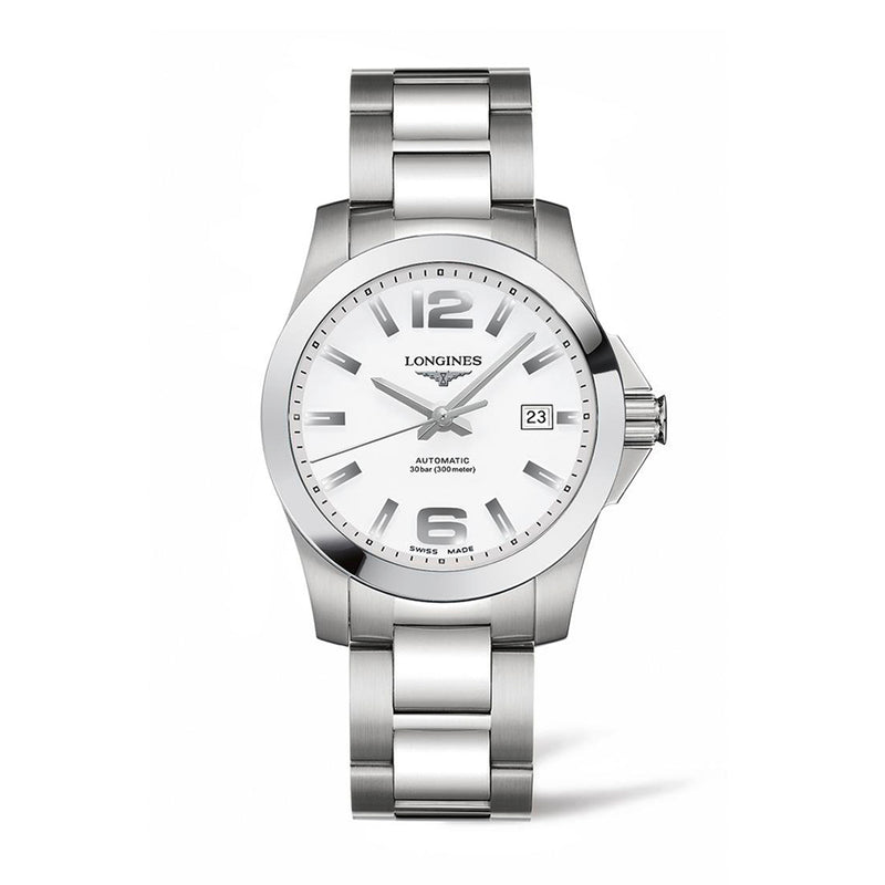 Longines Conquest Automatic Silver Mens Watch