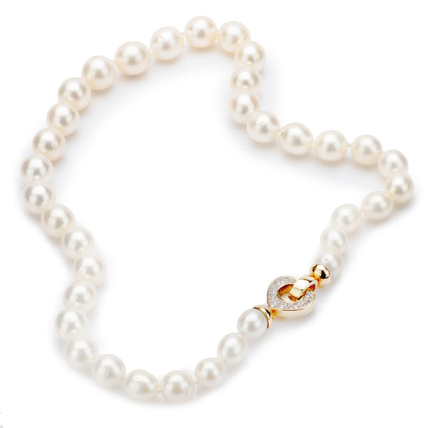 South Sea Pearl with an 18ct Yellow Gold Diamond Clasp