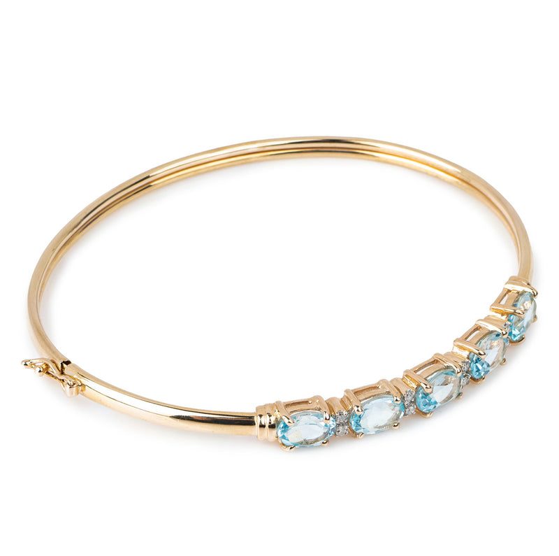9ct Blue Stone Bangle