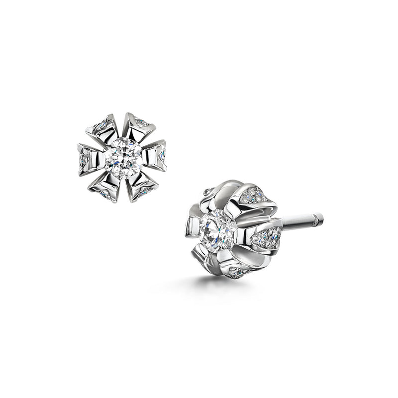 Blossom Diamond Stud Earrings