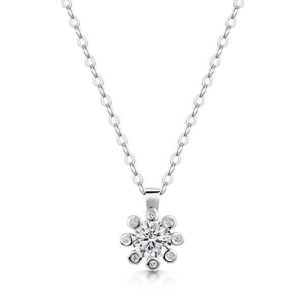 Dandelion Diamond Necklace
