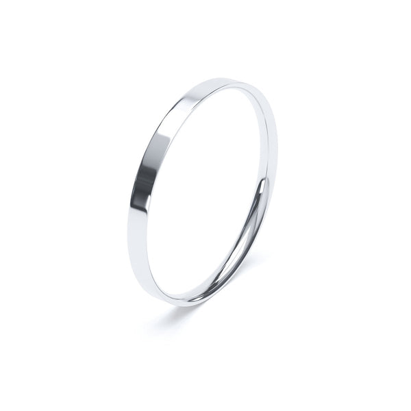 2.0mm Platinum Flat Court Band
