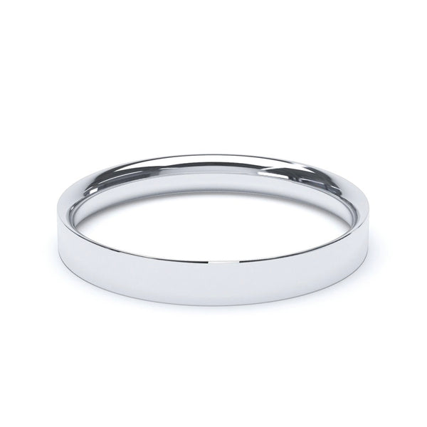 3.0mm Platinum Flat Court Band