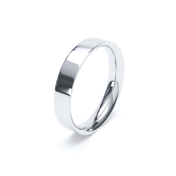 4.0mm Platinum Flat Court Band